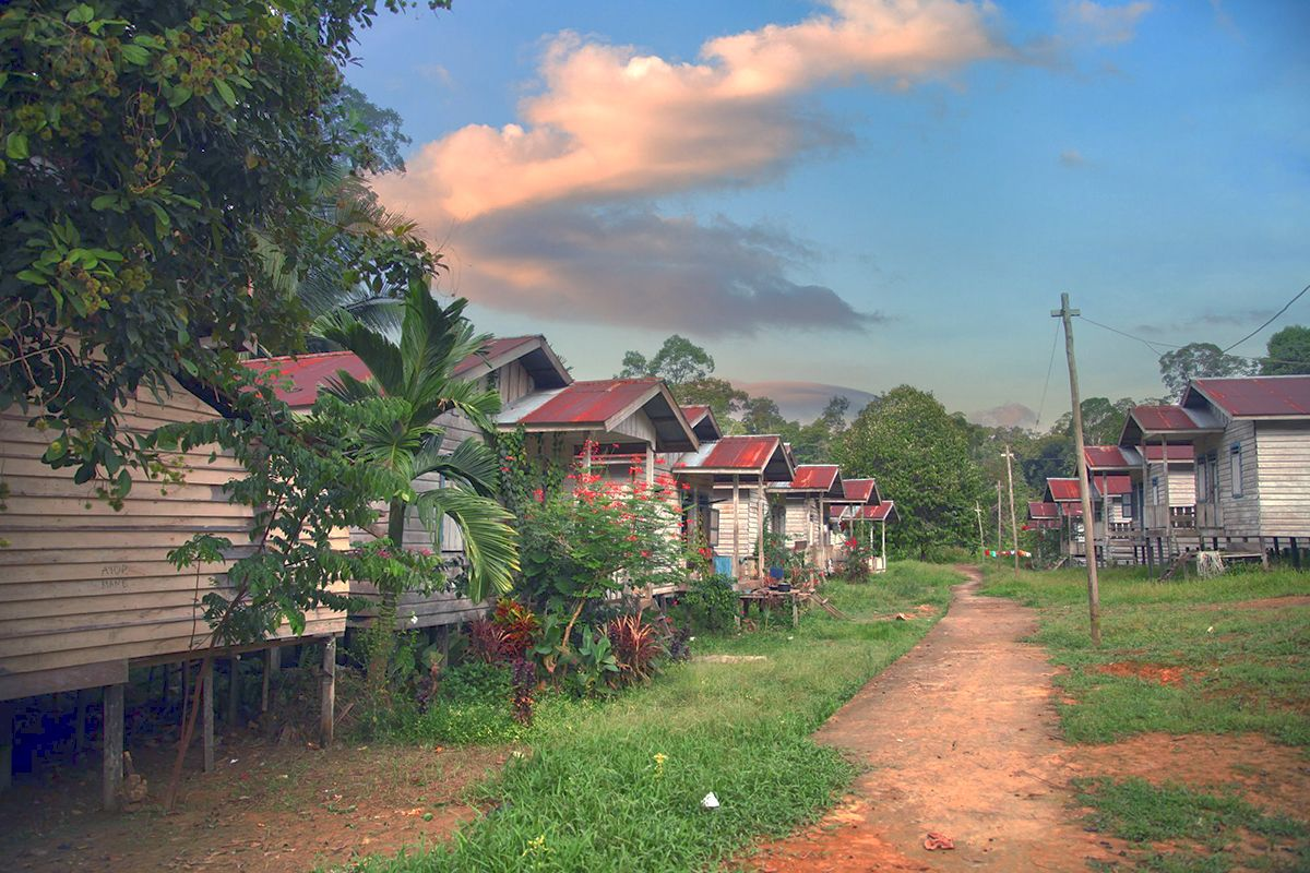 Kampung Suku Dayak Punan Semeriot di Hulu Sungai Bulusu/ Kharissa Dewidya Ristanto